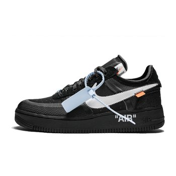 """Nike Off-White x Air Force 1 Low """"Black"""" AO4606-001"""