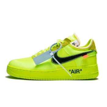 """Nike Off-White x Air Force 1 Low """"Volt"""" AO4606-700"""